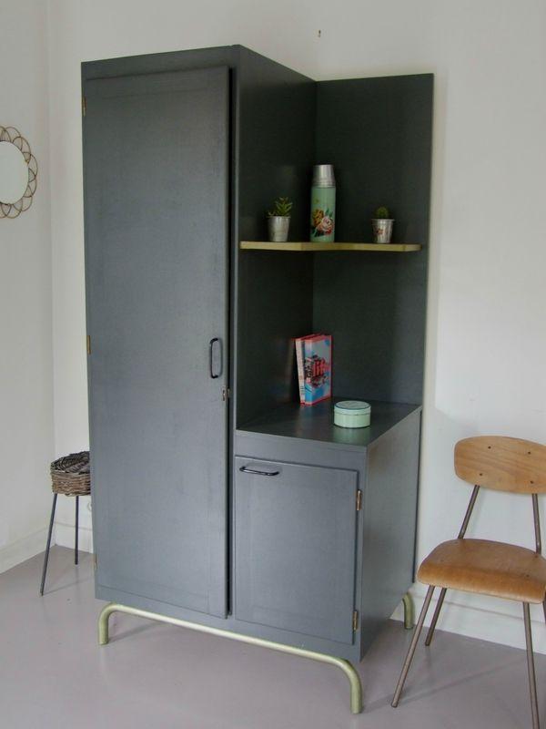 Armoire-asymétrique Pataluna Pinterest Brocante - porte d armoire coulissante