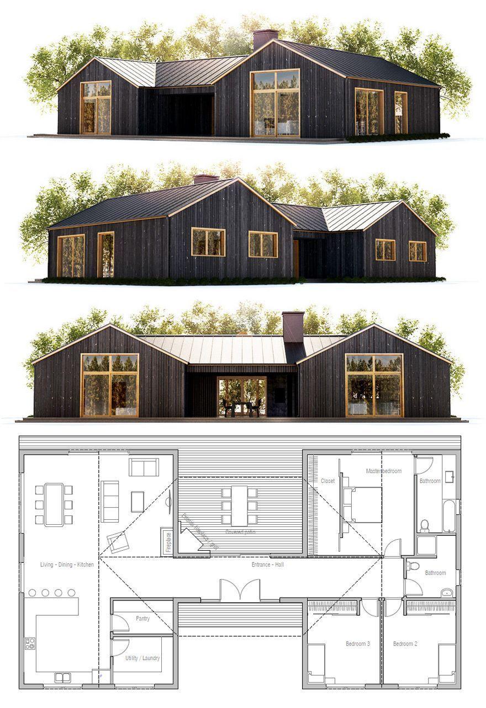 Pole-Barn-Homes-79.jpg (880×1283) | Houses | Pinterest | Log cabins ...