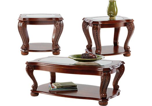 Yardsley Cherry Pc Table Set Room Living Rooms And Organizations - Rooms to go sofa table