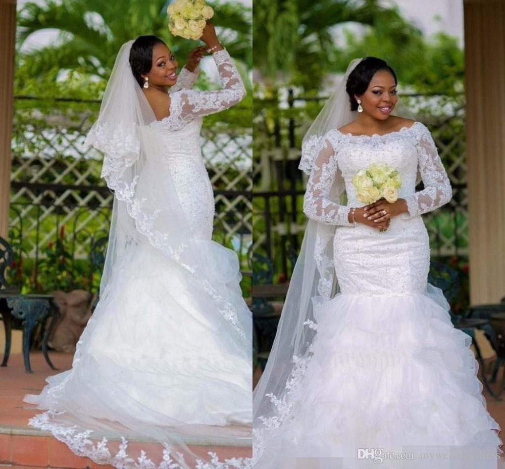 Click to buy ucuc mermaid african wedding dresses vestido de noiva