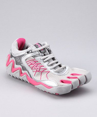 2324847e58 Take a look at this Gray & Pink Skele-Toes Turbo Running Shoe - Women by  Fila on #zulily today!