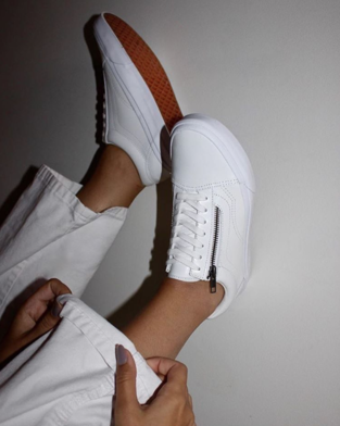 The Smooth Leather Old Skool Zip DX