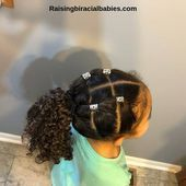 Mixed Girl Hairstyles: A Cute, Easy Style For Biracial Curly Hair (Tutorial) - #...,  #Biracial #Curly #Cute #Easy #Girl #Hair #Hairstyles #Mixed #mixedHairstylescurly #style #Tutorial