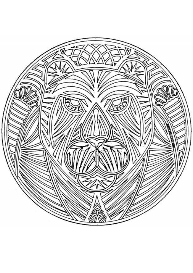 Mandala Coloring Pages For Adults | Animal Mandala coloring pages describe any animal to be used as well ...