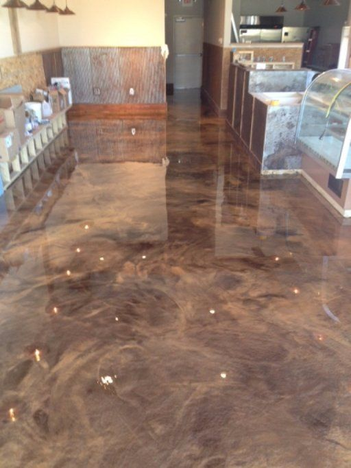 Rapid City Metallic Epoxy Concrete Staining Stained