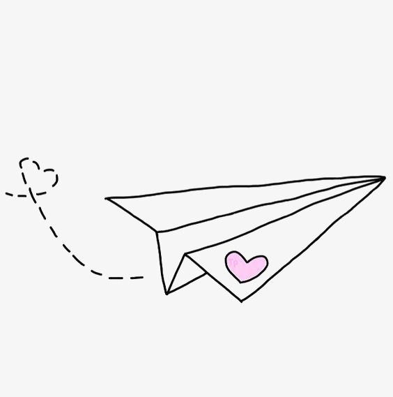 Hand Painted Paper Airplane