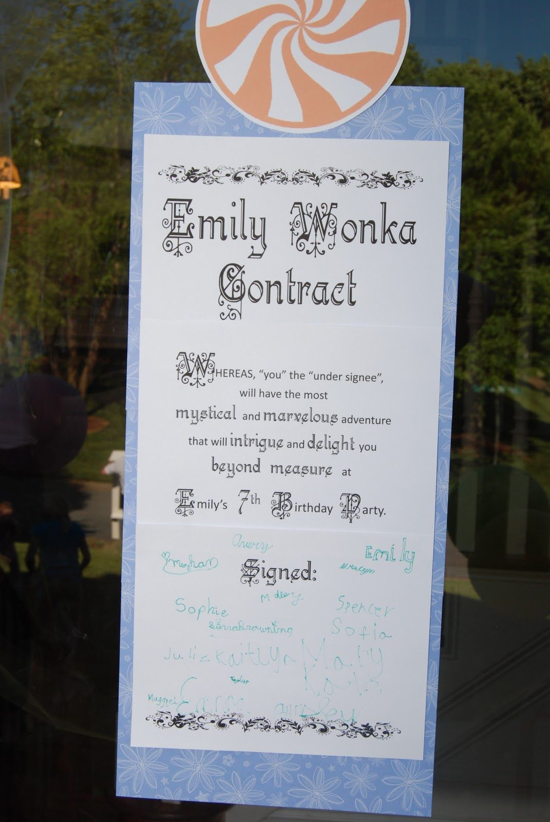 Willy Wonka Contract | Kid Birthday Party Ideas | Pinterest | Willy ...