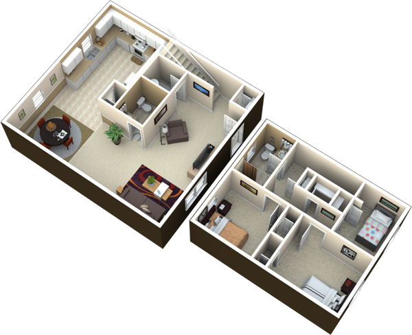 3 Bedroom 1 5 Bath 1250 Sq Ft Rent Details Three Bedroom 1 5 Bath With W D Connections In Each Home Des Floor Plans Home Room Design House Rooms
