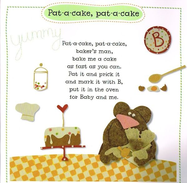 Nursery Rhymes Google Search Patty Cake Nursery Rhyme