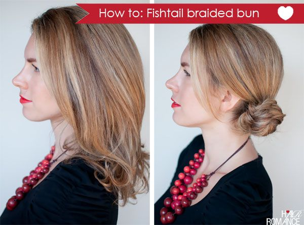 How-to: Fishtail braided bun hairstyle #braidedbuns