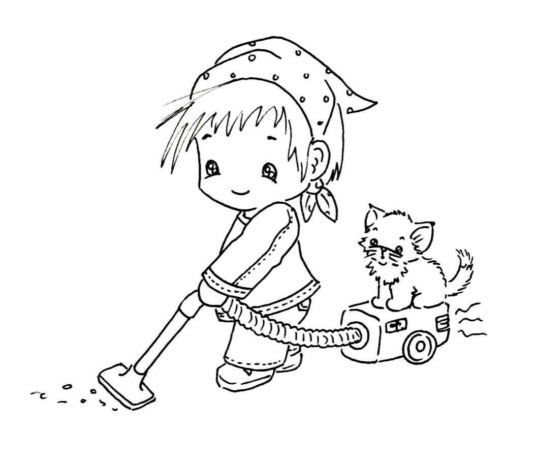 Coloring Pages House Cleaning