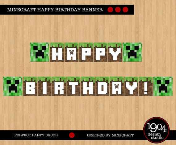 Happy Birthday Minecraft Font Google Search Templates