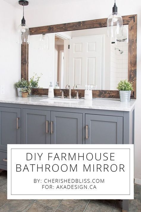 Photo of DIY Farmhouse Bathroom Mirror Tutorial
