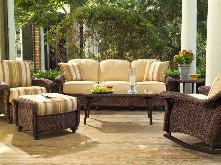 Lloyd Flanders Oxford Wicker Lounge Set In 2021 Patio Furnishings Outdoor Wicker Furniture Modern Patio Furniture
