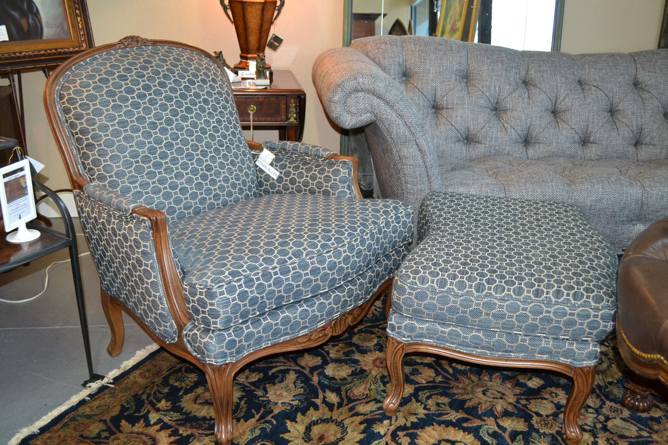 """Ethan Allen """"Lucian"""" bergere chair Chair, French chairs"""