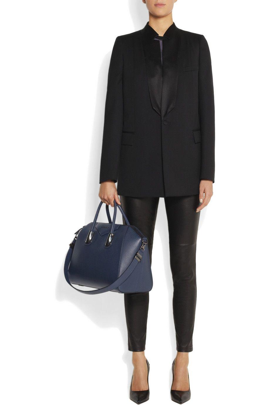 2c0f35e553 Givenchy | Medium Antigona bag in navy leather | NET-A-PORTER.COM ...