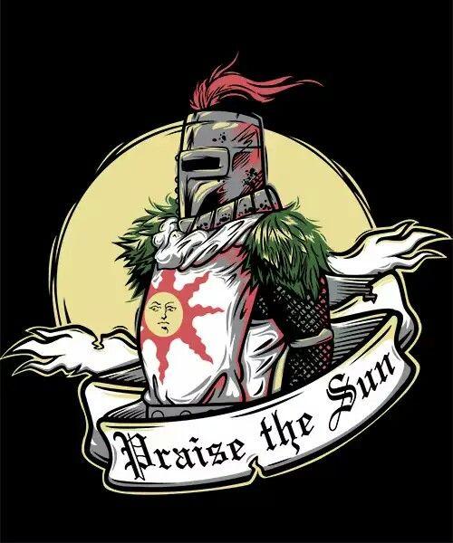 Solaire of Astora praise the sun t shirt design | Arte ...