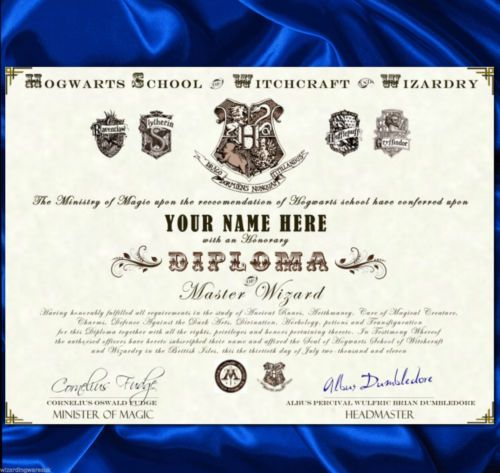 Harry potter hogwarts diploma certificate great gift for harry potter hogwarts diploma certificate great gift for valentines wallpaper rolls sheets wallpaper accessories yadclub Image collections