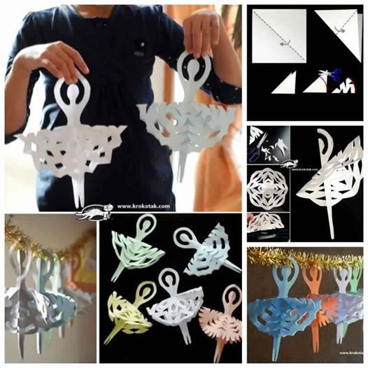 Idees And Solutions: DIY Snowflake Ballerinas
