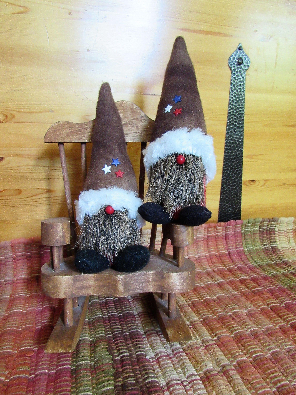 2 Mini Gnomes, Swedish Gnome, Tomte, Nordic Nisse, Scandinavian Gnome,