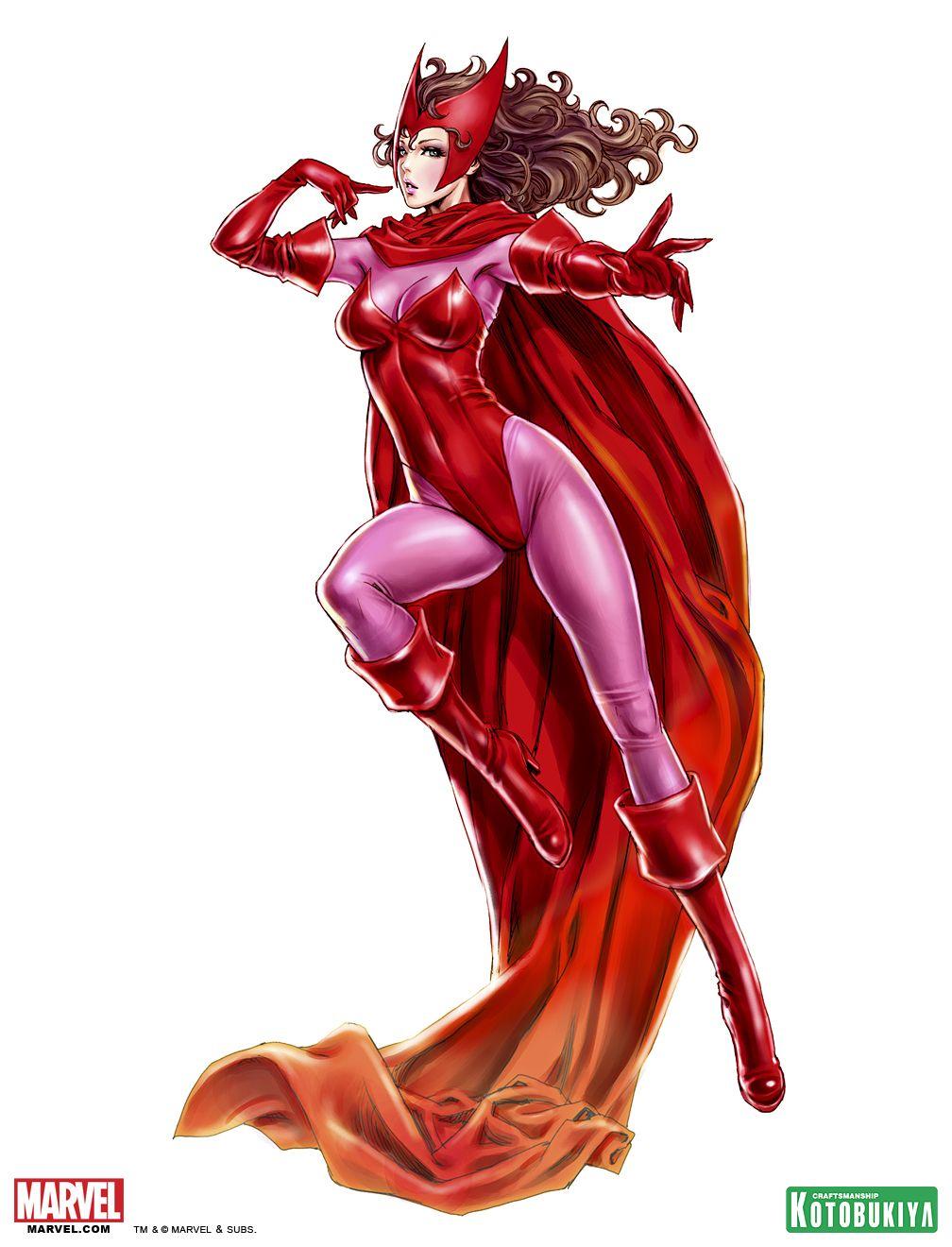 Kotobukiya Scarlet Witch Bishoujo Illustration By Shunya Yamashita