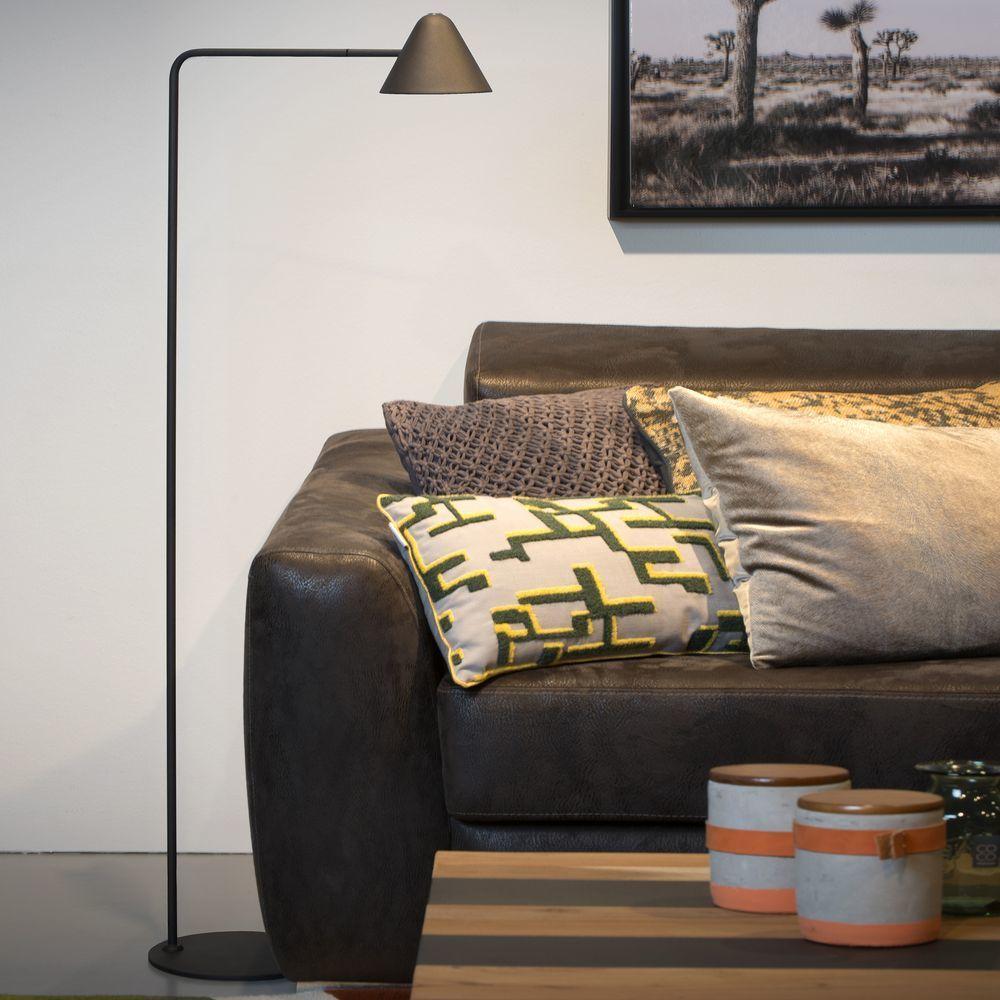 Led Stehlampe Devon In Schwarz 5w 500lm Lucide 20715 05 30 Led Stehlampe Stehlampen Wohnzimmer Stehlampe