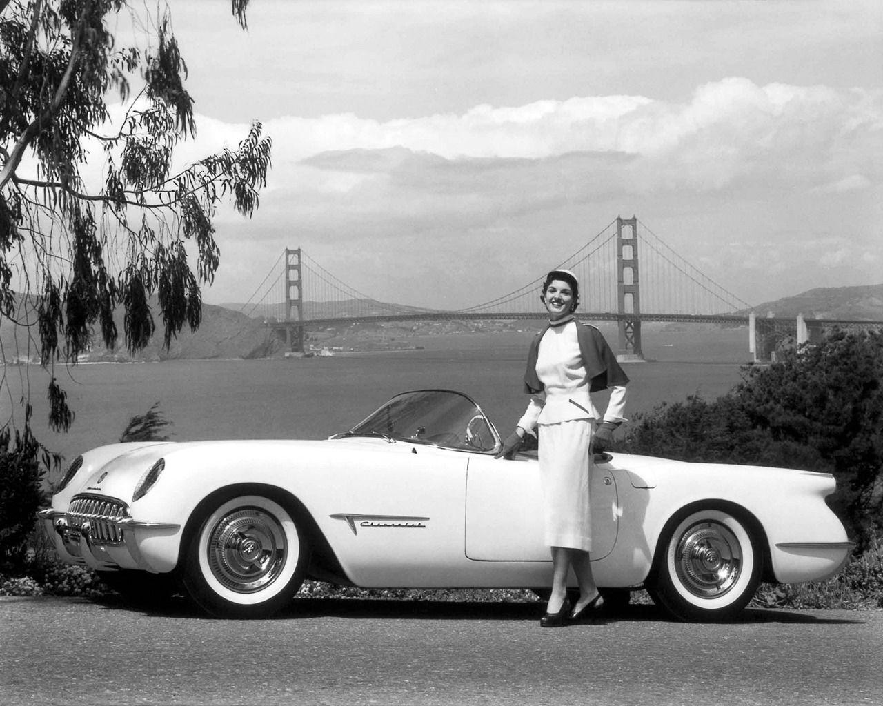 Advertising Photo Of The 1954 Chevrolet Corvette Taken On El Camino Del Mar Near