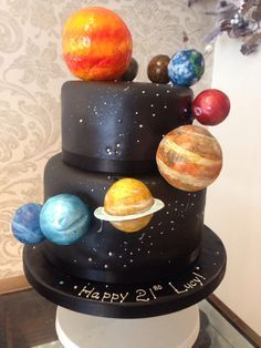 How To Make A Solar System Cake Google Search Galaxy Cake