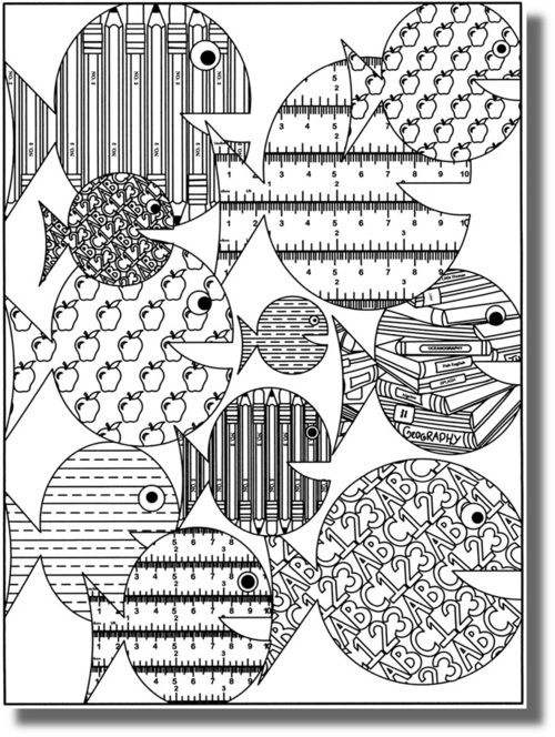 Poissons d\'Avril à colorier - free coloring pages - fish | Bricolage ...