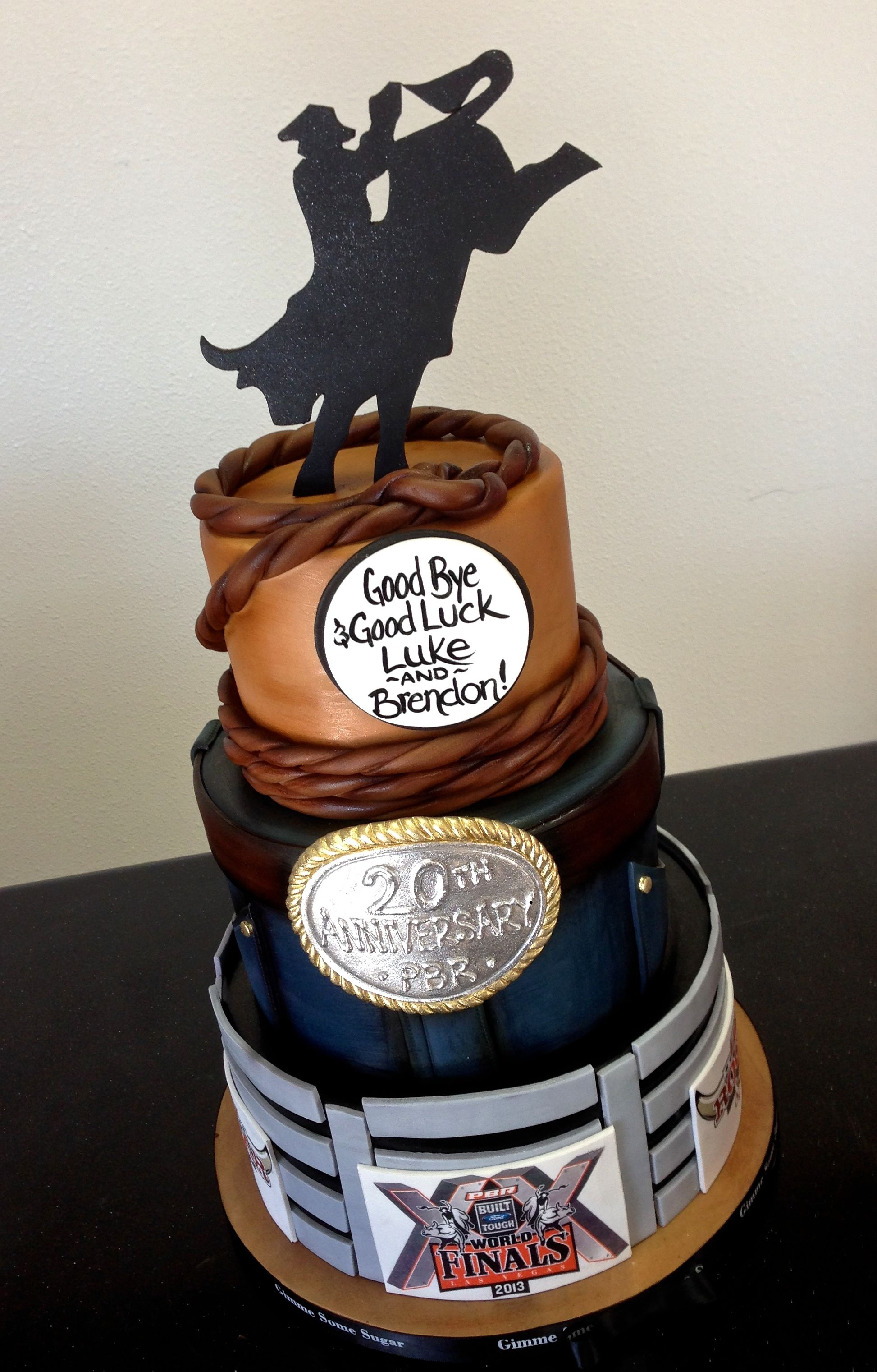 Rodeo Themed Retirement Cake Www Gimmesomesugarlv Com