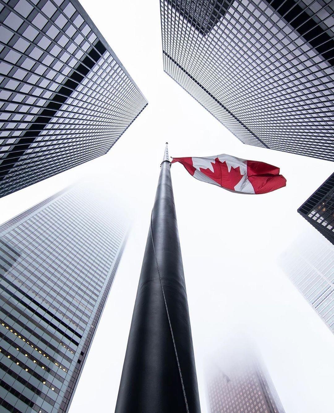"blogTO's Instagram profile post: ""Stay strong, Canada 🇨🇦 #Toronto #Ontario #Canada #CanadianFlag #ourcommunityTO - 📸 @jgazze"""