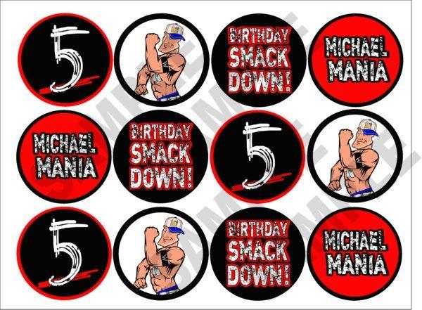 WWE Printable Cupcake Toppers