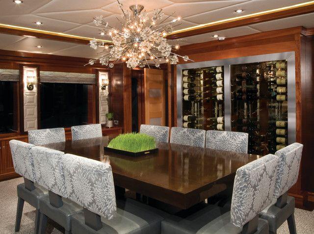 Dining Room Wine Cellar Dining Room Custom Wine Cellar In Yacht Mesmerizing Wine Cellar Dining Room