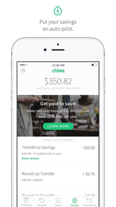 Chime Banking by 1Debit | navigation ui | Free banking, Opening a