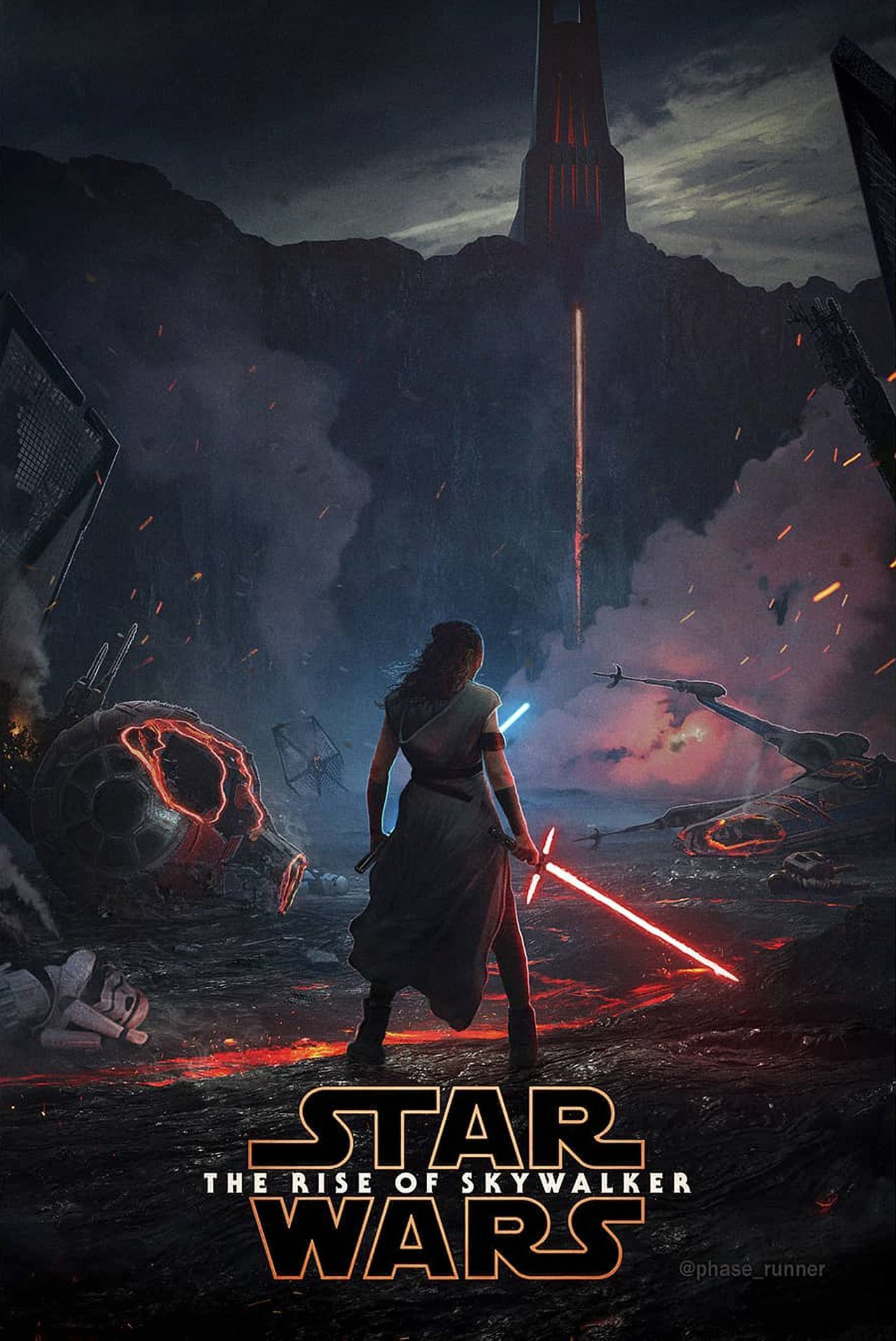 Another The Rise Of Skywalker Fan Made Poster By Phase Runner Star Wars Wallpaper Star Wars Episodes Star Wars Art