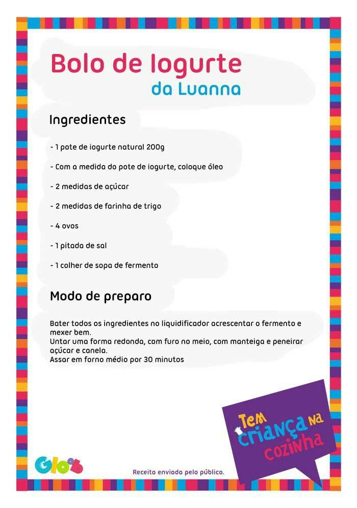 Bolo de Iogurte da Luanna #TemCriançaNaCozinha