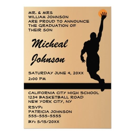 Basketball Player 2014 Graduation Announcement today price drop and