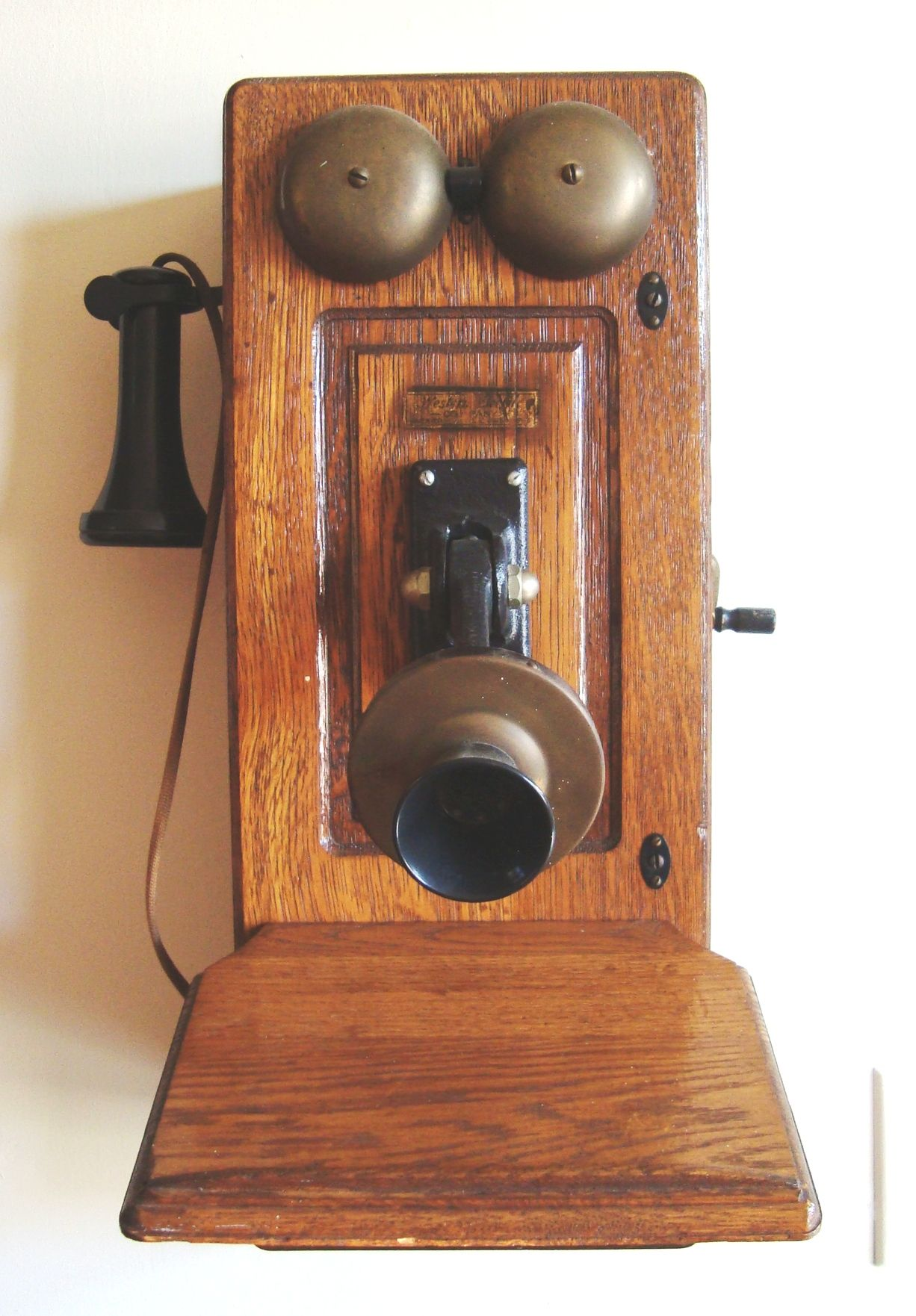 A turn of the century telephone. The telephone was an