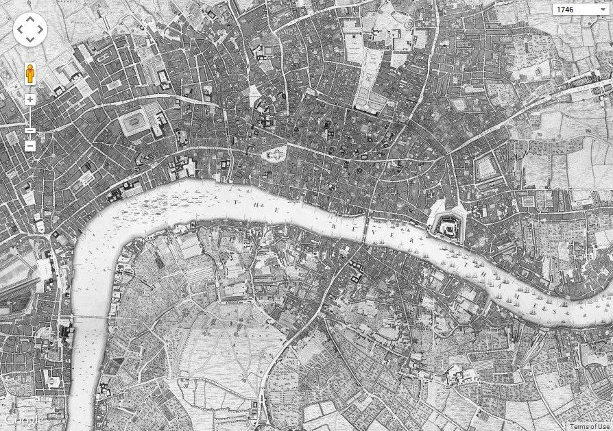 John Rocqueu0027s Map of London 1746