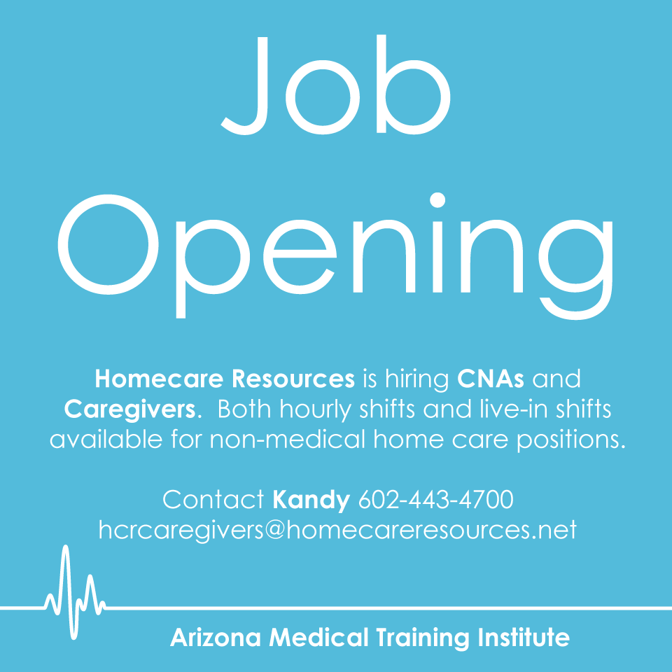 Homecare Resources is hiring CNAs and Caregivers