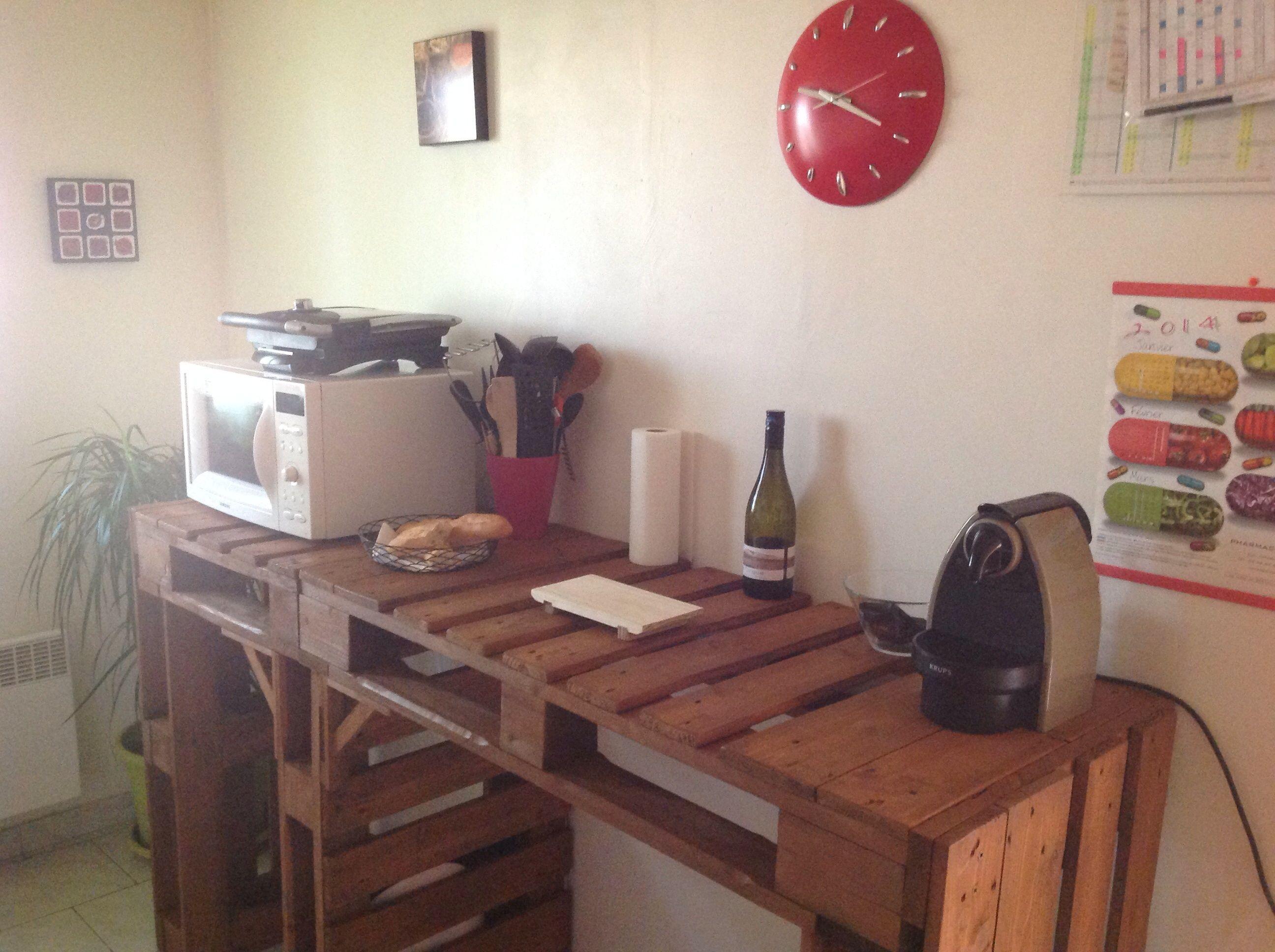 Headboard pallet tablediy furniture diy wood designs - Table cuisine palette ...