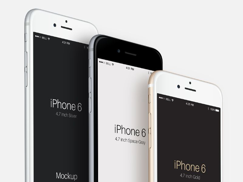 Perspective Iphone 6 Psd Iphone 6 Iphone Mockup