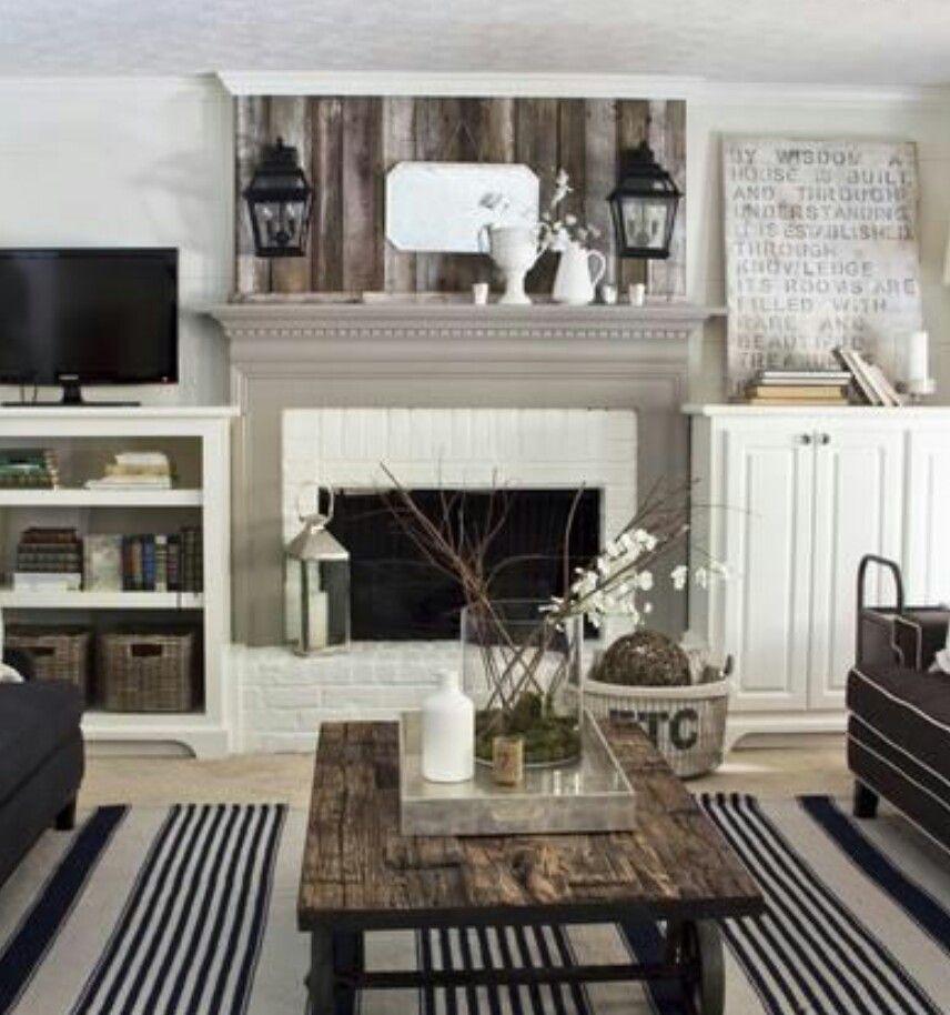 Wood Fireplace barnwood fireplace : Chick barnwood fireplace | Fireplace ideas | Pinterest | Ildsted