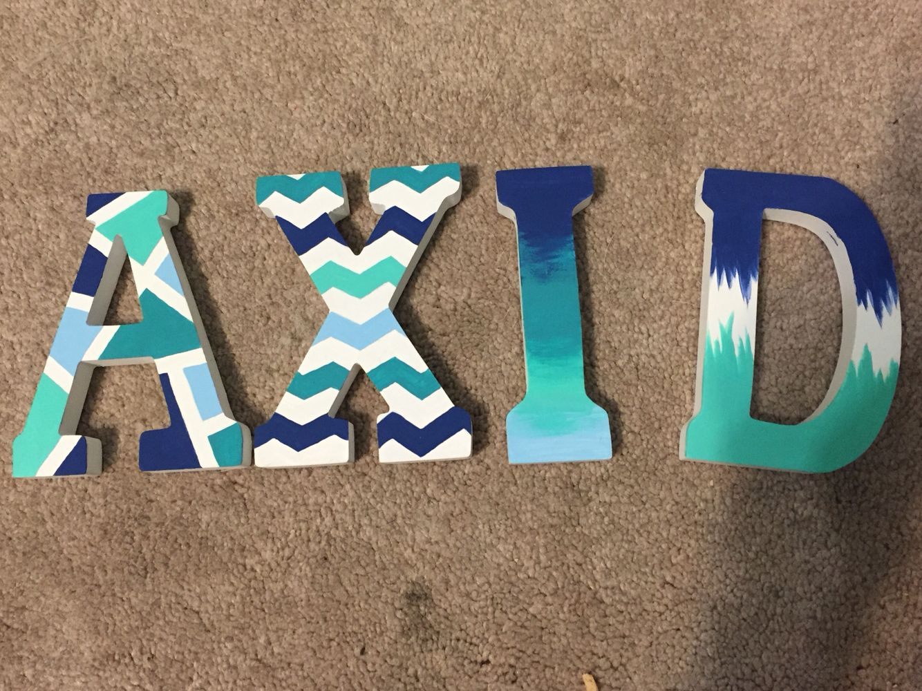 alpha xi delta wooden painted letters not my original design but my letters