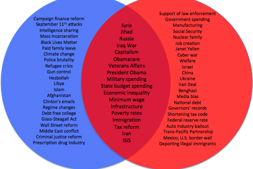 Image result for republican vs democrat platforms politico chart