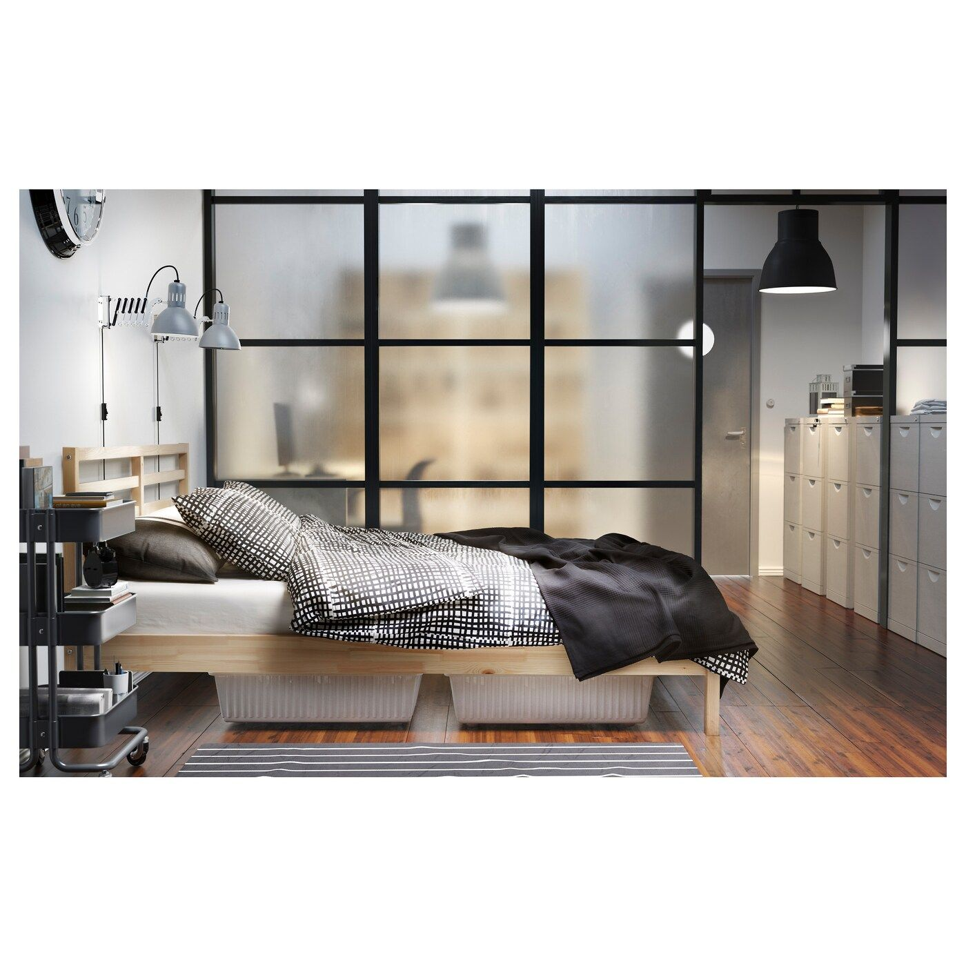 TARVA Bed frame pine, Lönset Queen in 2020 (mit Bildern