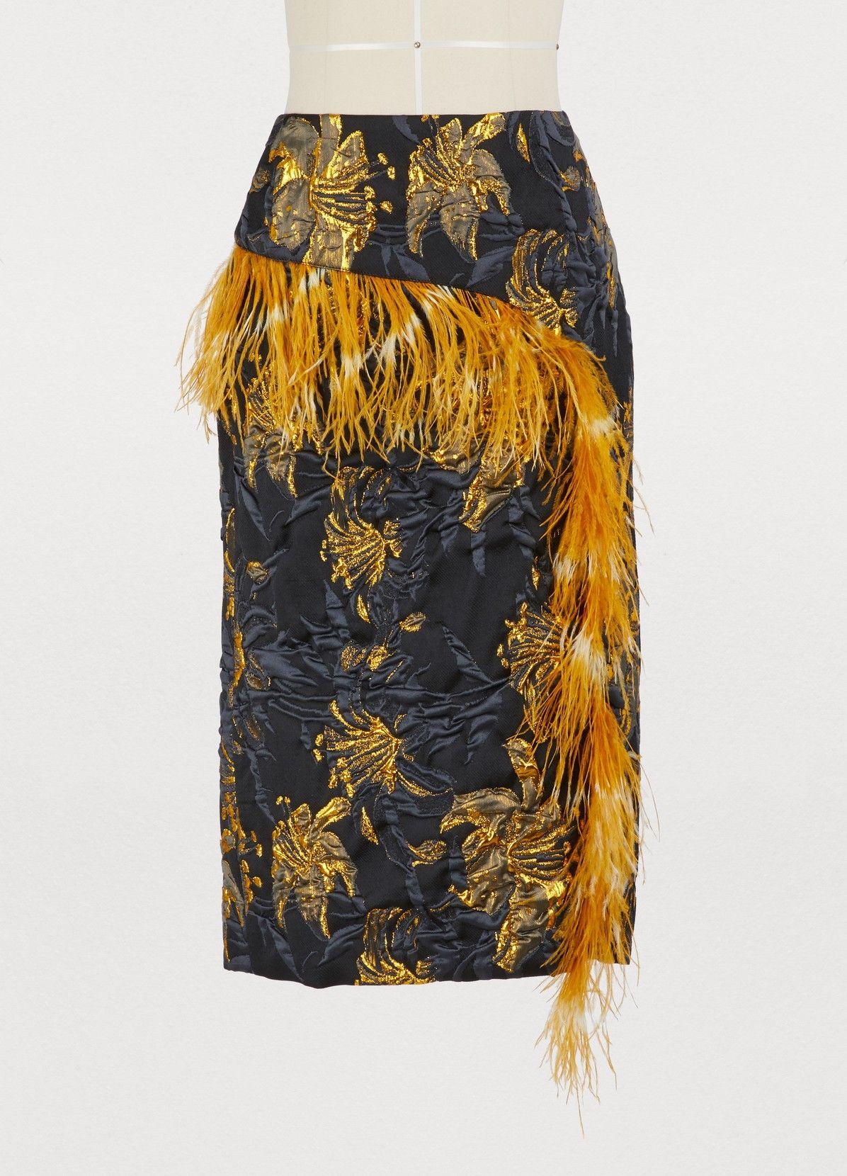 Women's Feathers skirt Dries Van Noten 24 Sèvres in
