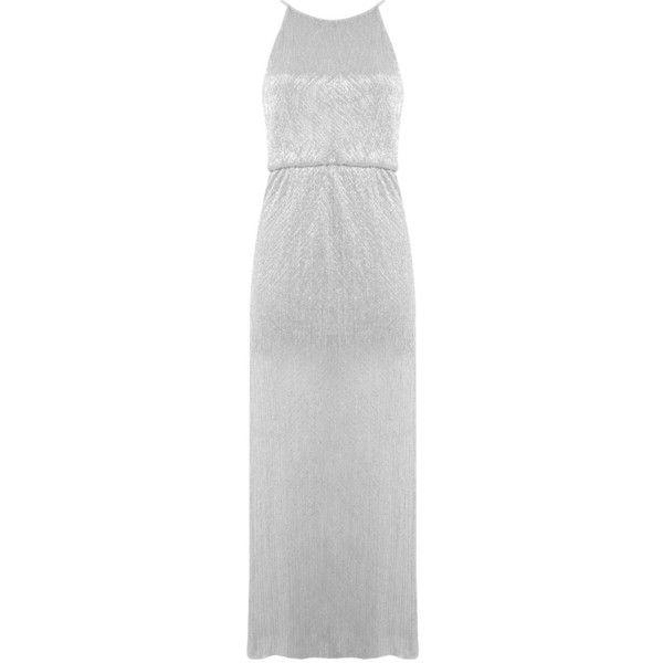 Miss selfridge silver maxi dress
