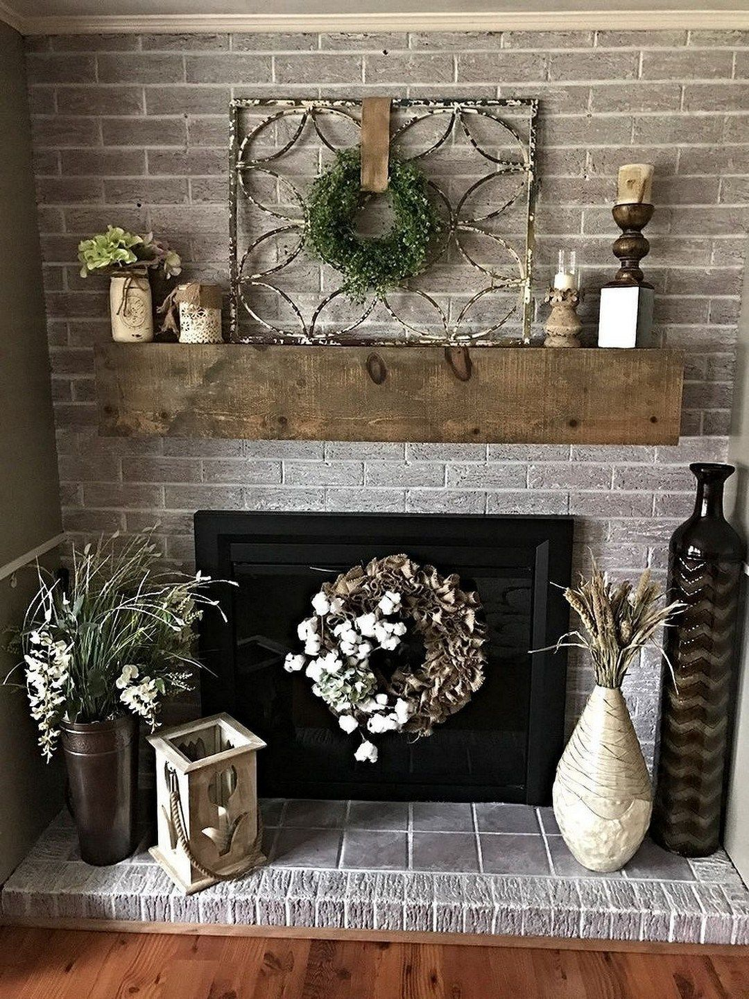 117 incridible rustic farmhouse fireplace ideas makeover