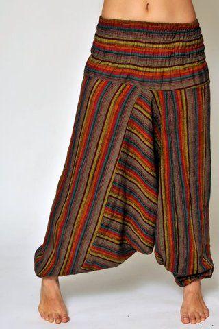 Como Hacer Un Pantalon Arabe Diy Clothes Refashion Refashion Clothes Boho Outfits Hippie